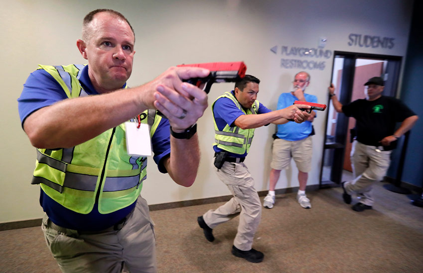 Weapons training for mass shooting