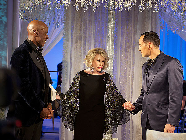 Joan Rivers officiates wedding, courtesy of Robert Evans