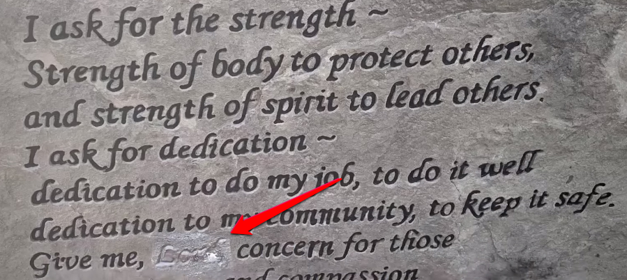 "The word ""Lord"" was erased from a monument"