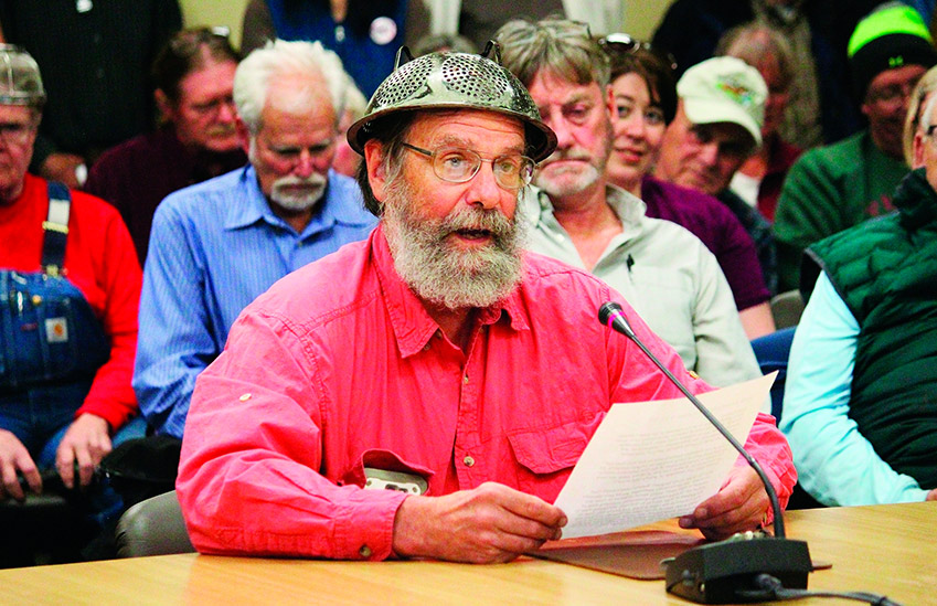 Pastafarian Barrett Fletcher delivering the opening prayer at government meeting