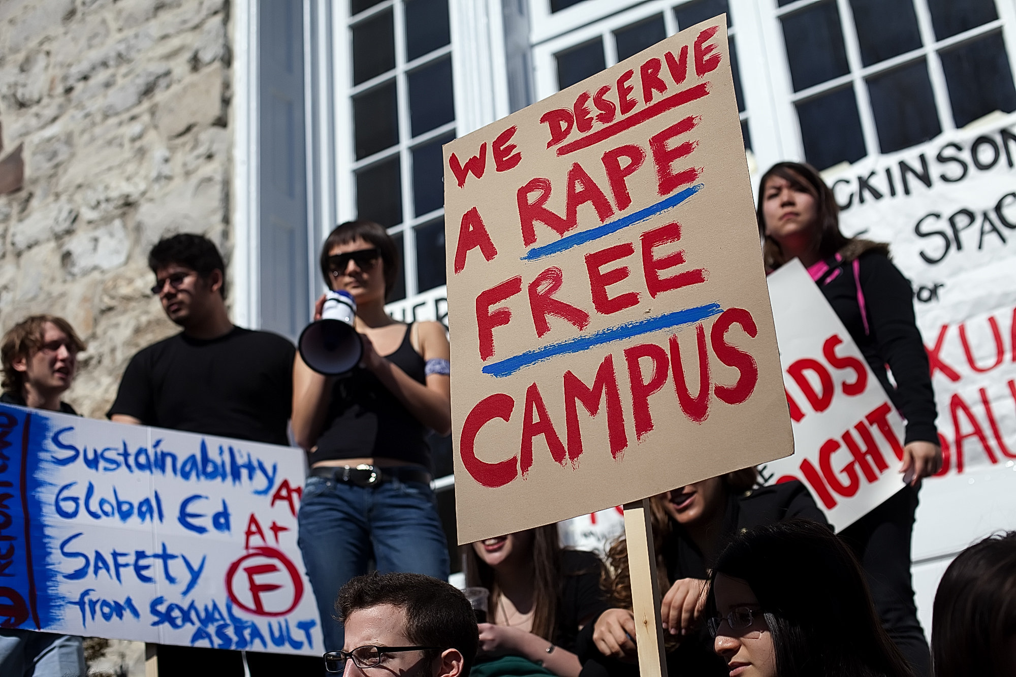 Students protest sexual assault on college campus