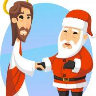 The Great Christmas Standoff: Jesus vs. Santa