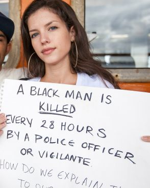 A black man is killed every 28 hours by a police officer or vigilante.