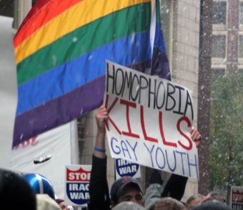 A protest for LGBT rights.