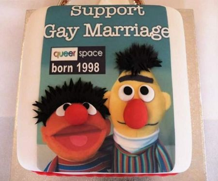 Bert and Ernie gay marriage cake