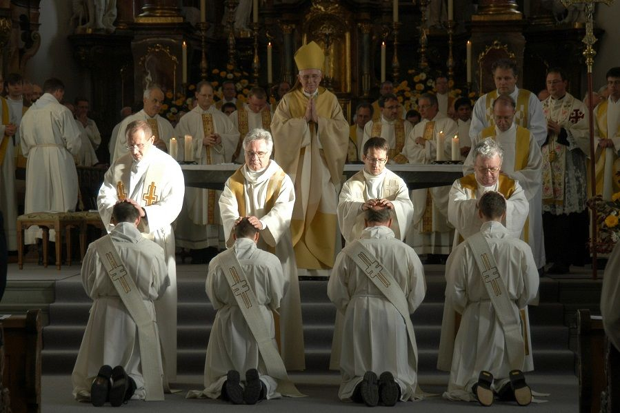 A group of Catholic priests