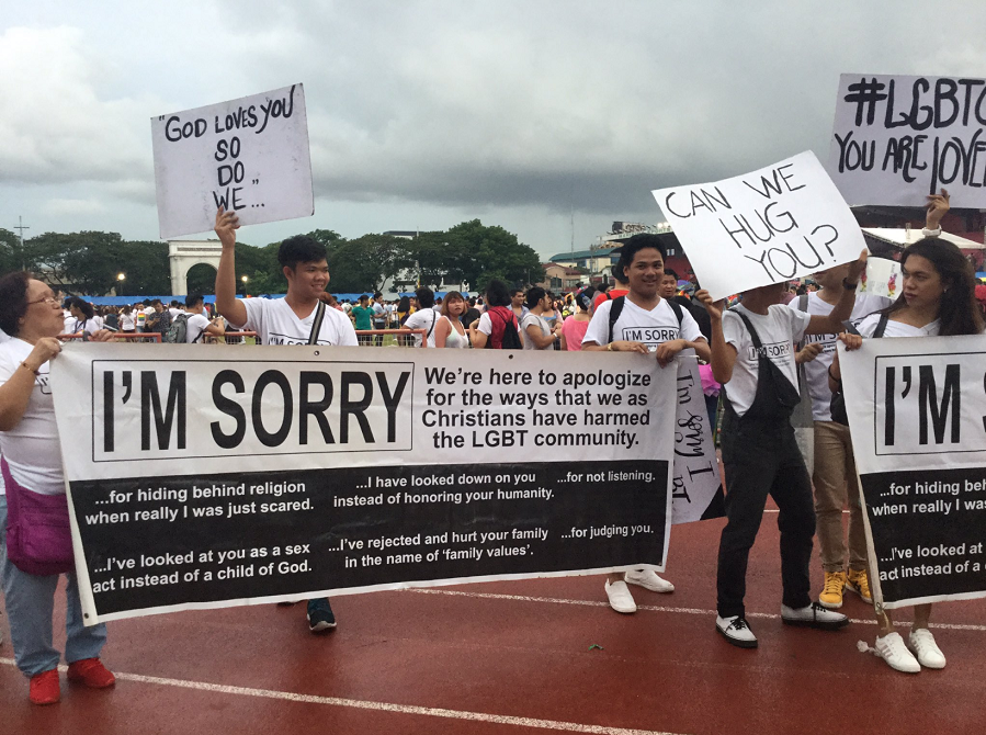 Christiany apology to gays