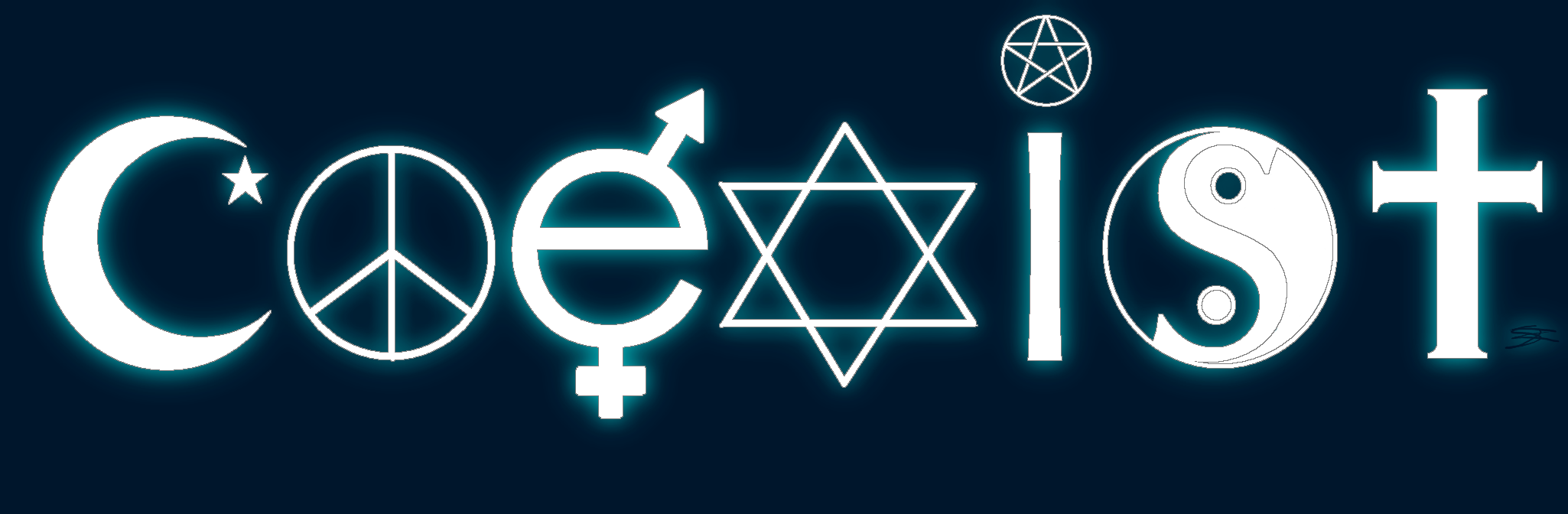 Religious freedom coexist sticker