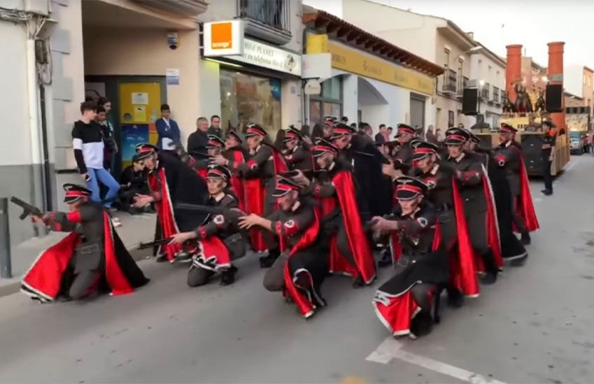 Dancing Nazis in Spanish Parade