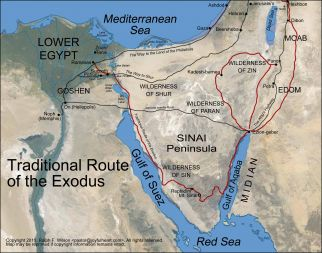 Exodus route map - Universal Life Church Monastery