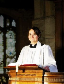 A female priest in the Church of England