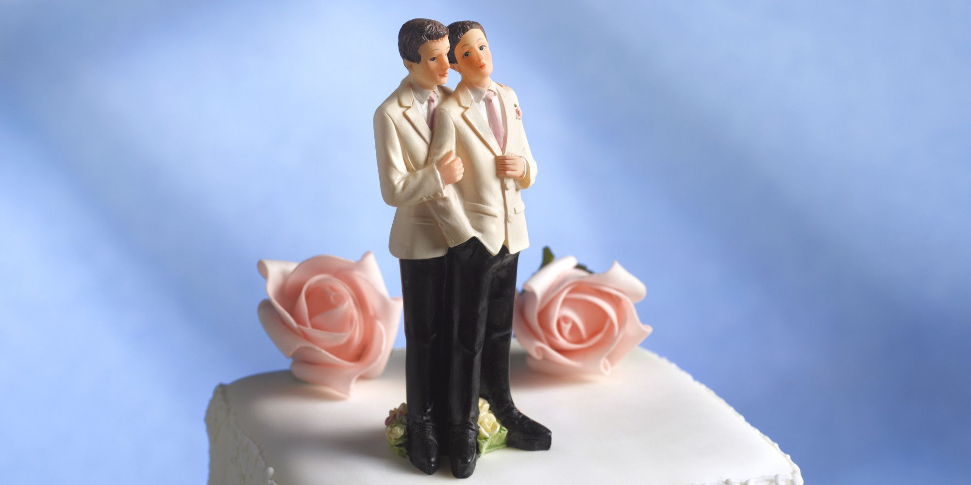 Wedding cake for a gay wedding