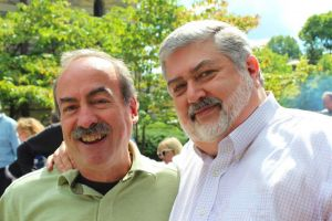 Methodist pastor David Meredith and his husband