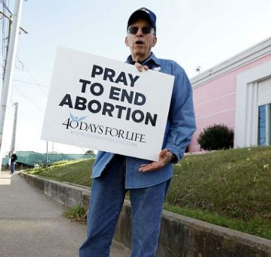 Pray to end abortion sign
