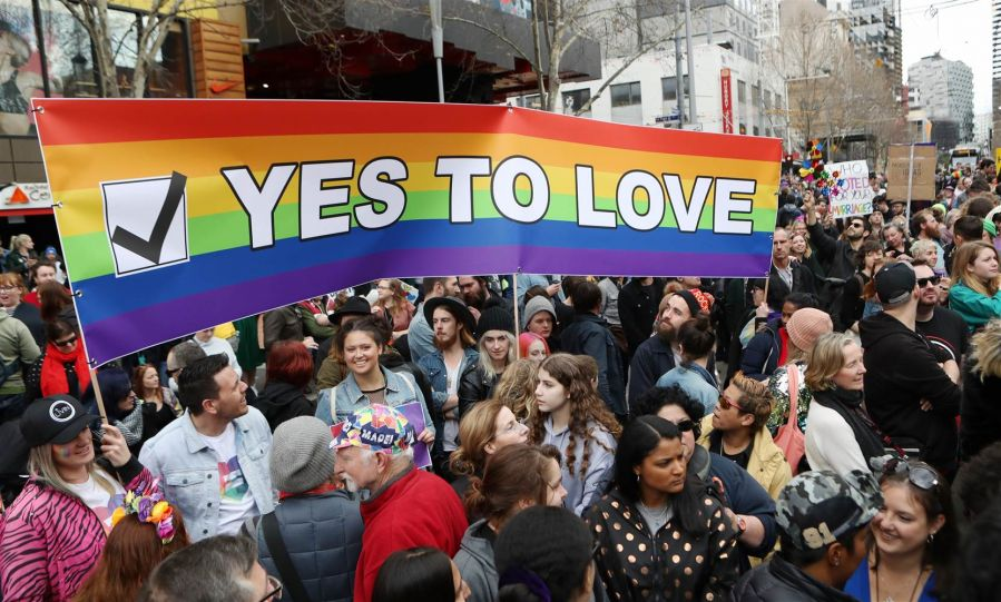 A pro gay marriage rally in Australia