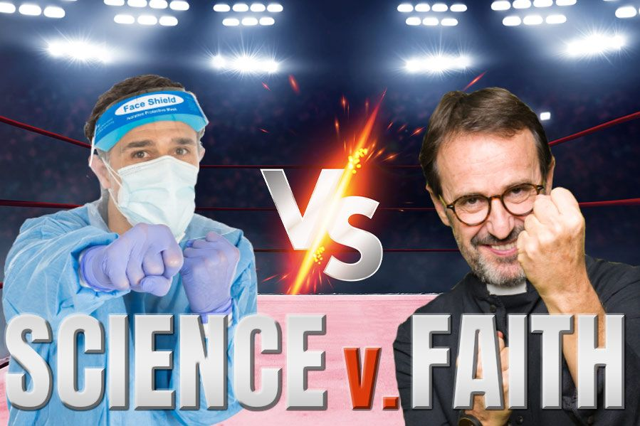 Depiction of science vs faith