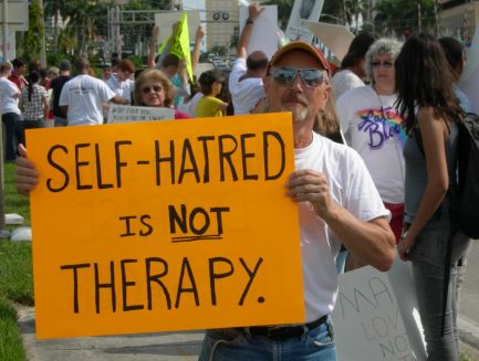 Protest against conversion therapy
