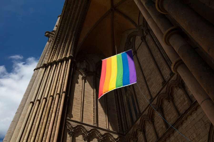 A church advocating for trans rights