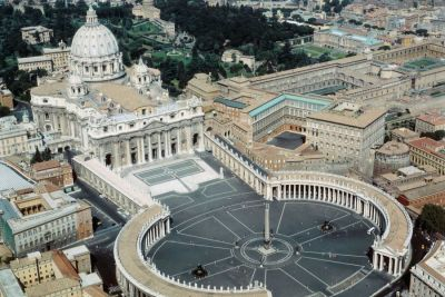 The Vatican aerial photograph.