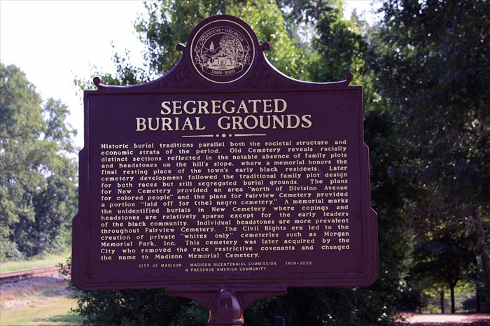 segregated burial grounds
