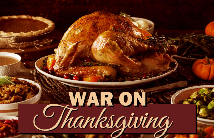 War on Thanksgiving graphic