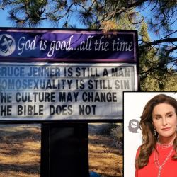 "Christian Pastor Fired After Posting ""Bruce Jenner Is a Man"" Sign"
