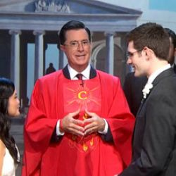 Stephen Colbert Gets Ordained Online