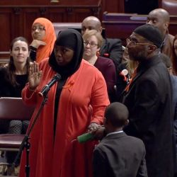 Lawmaker Preaches About Jesus as Muslim Woman Is Sworn into Office