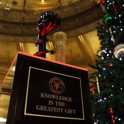 Satanic Temple Erects Holiday Monument at Illinois Capitol