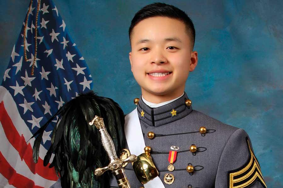Peter Zhu in his official cadet photo