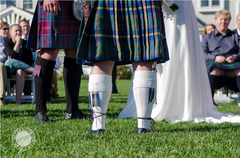 Even these wedding day socks have some Scottish heritage.