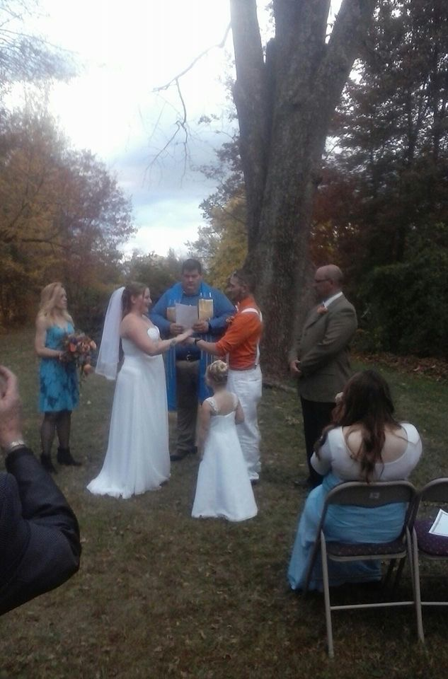 A crisp fall day, perfect for an outdoor wedding.