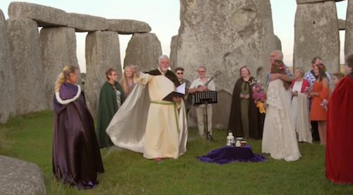 Stonehenge, UK with Meaghan and Nick (from USA) celebrating a spiritual ceremony including Buddhist/Celtic tradition with handfasting.