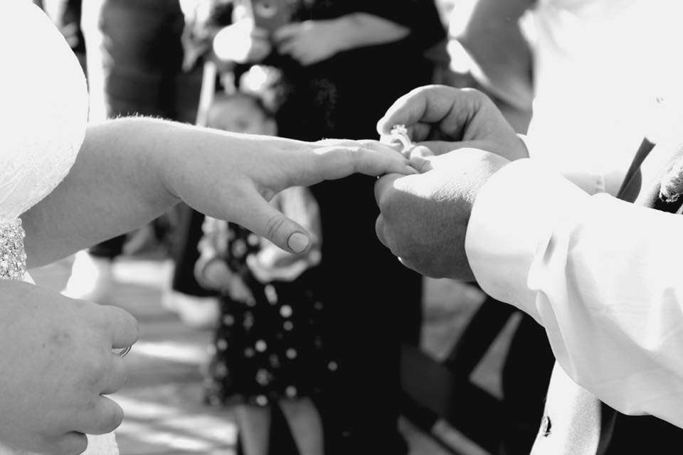 "They promise to be ""stuck and tied"" to each other until the end of time~ I love their Infinity Finger Knot~"