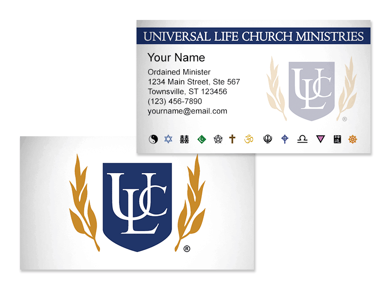 Clergy Business Cards
