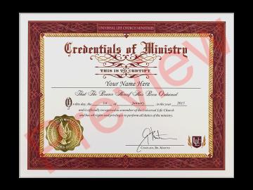 Ordination Credential
