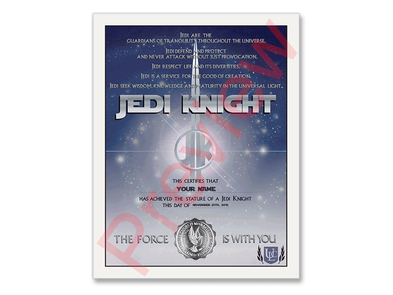 Jedi Knight Credential