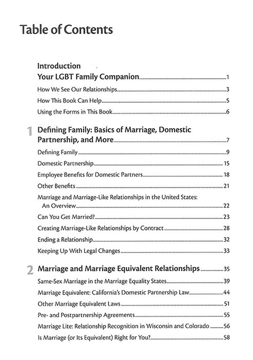 A Legal Guide for Lesbian & Gay Couples page