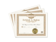Certificate of Baptism 3 Pack