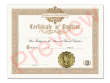 Certificate of Baptism Single Pack