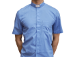 Short-Sleeve Clergy Shirt Blue