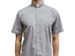 Short-Sleeve Clergy Shirt Gray