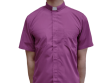 Short-Sleeve Clergy Shirt Purple