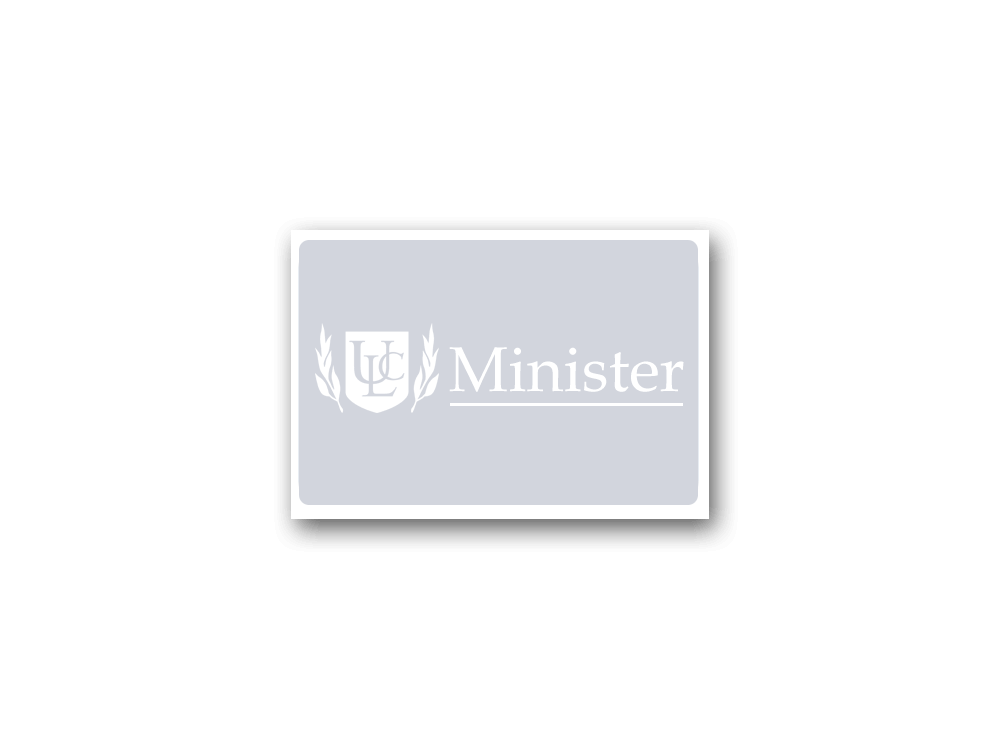 Minister Window Cling