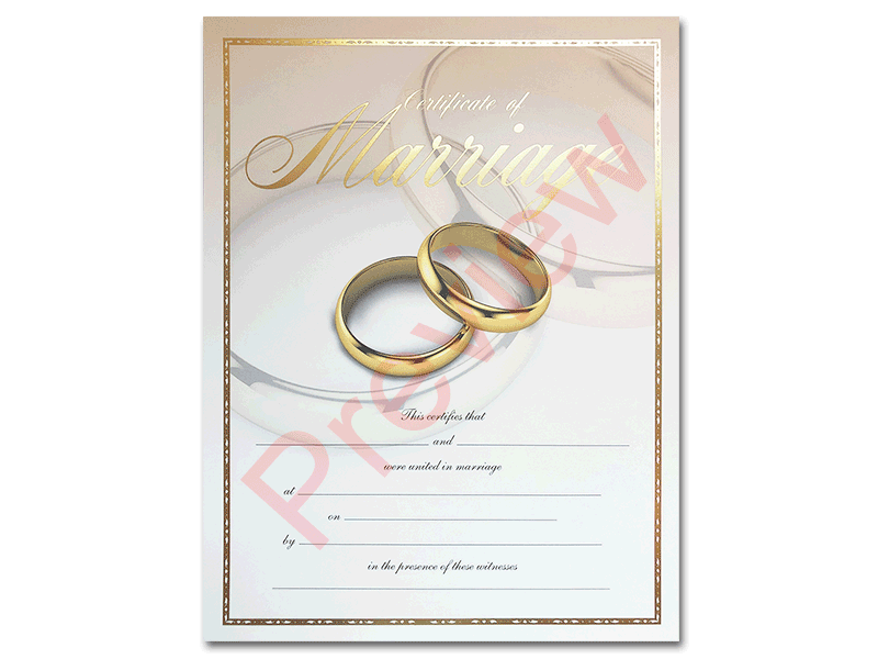 Premium Certificate of Marriage Rings