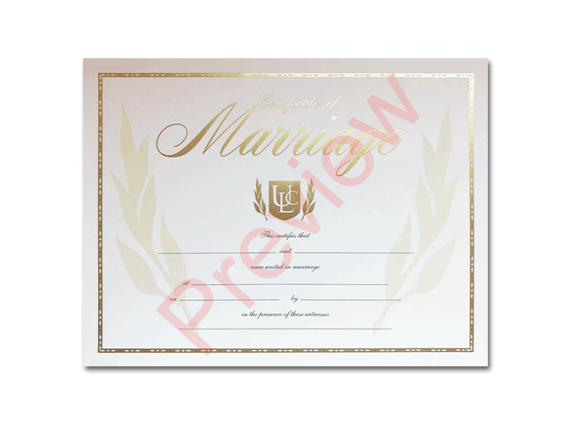 Premium Certificate of Marriage Shield