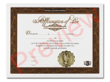 Certificate of Affirmation
