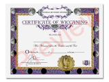 Certificate of Wiccaning