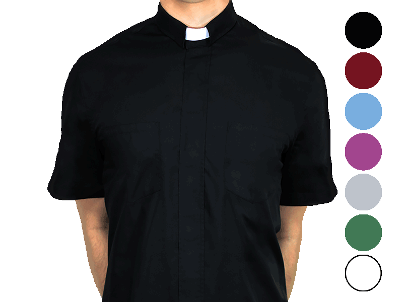 Short-Sleeve Clergy Shirt thumb
