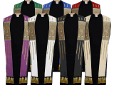 These official ULC stoles feature gold embroidery on fields of vivid color. Our Alpha Omega stoles provide a beautiful compliment to any ministerial occasion.